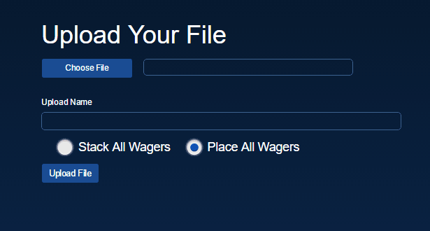 File Upload Wagering